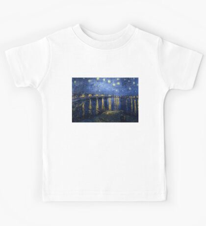 Vincent van Gogh - Starry Night Over the Rhone Kids Tee