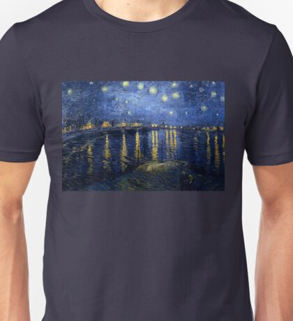 Vincent van Gogh - Starry Night Over the Rhone Unisex T-Shirt