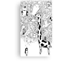 giraffe dream Canvas Print