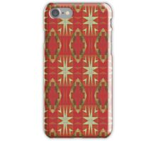 Orange Brown Red Ochre Olive Green Mosaic Pattern iPhone Case/Skin
