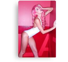 Nicole Pink Walls Canvas Print