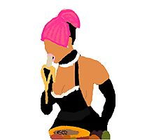 Nicki Minaj: Banana Eater Photographic Print