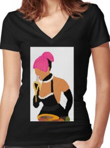 Nicki Minaj: Banana Eater Women's Fitted V-Neck T-Shirt