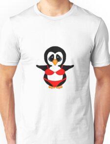 Penguin in Red Bikini Unisex T-Shirt