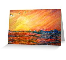 Sunset Departure by Heather Holland Greeting Card