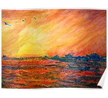 Sunset Departure by Heather Holland Poster