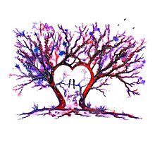 Trees - 'Love Grows' Photographic Print