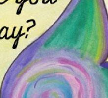 Inspirational butterfly lady Sticker