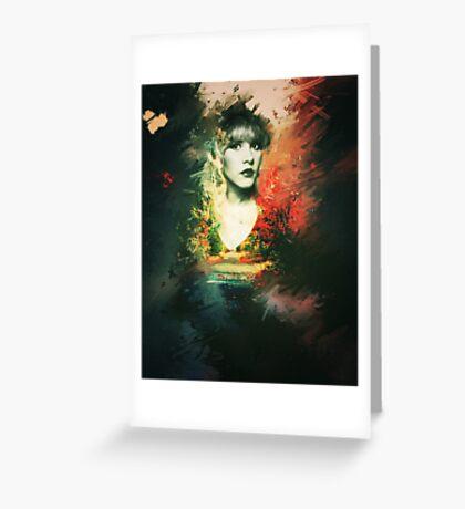Stevie Nicks - Goddess Print Greeting Card