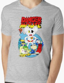 Danger Mouse Mens V-Neck T-Shirt