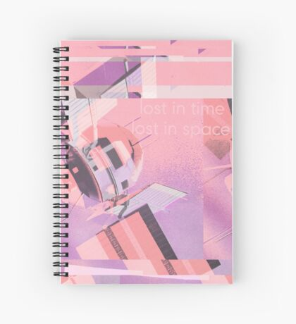 Lost in Spacetime Spiral Notebook