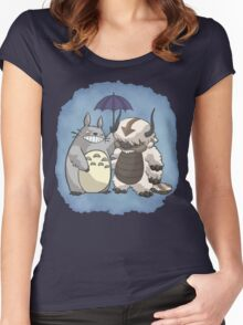 Totoro and Appa Women's Fitted Scoop T-Shirt