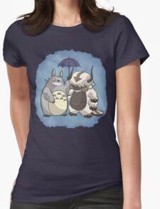 Totoro and Appa Womens Fitted T-Shirt