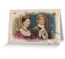 Outlander/Dragonfly in Amber stamp/Jamie and Claire Fraser Greeting Card