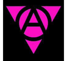 Queer Anarchist Pink Triangle Photographic Print