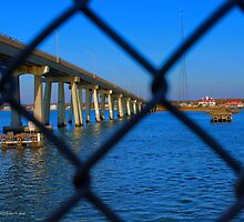 View On Current And Former Ponquogue Bridge   Hampton Bays, New York by © Sophie W. Smith