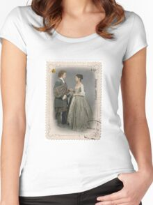 Outlander stamp/Outlander Wedding Women's Fitted Scoop T-Shirt