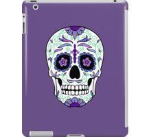 Sugar Skull Purple and blue iPad Case/Skin