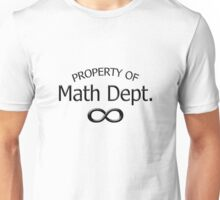 """Property of Math Dept."" typography Unisex T-Shirt"