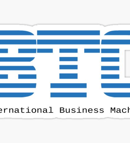 BTC - Bitcoin International Business Machine Sticker