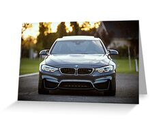 BMW M3 Frontend Greeting Card