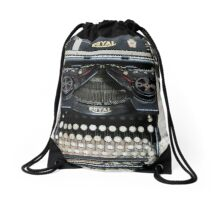 Old style Royal typewriter with ribbon  Drawstring Bag