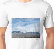 Living in the shadow of the mountains Unisex T-Shirt