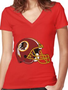 Washington Redskins Women's Fitted V-Neck T-Shirt
