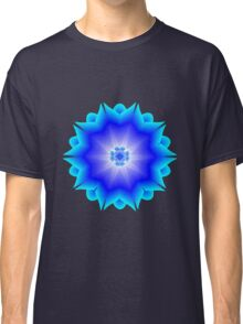 Floral Psychedelic Mandala Blue Classic T-Shirt