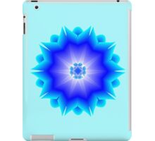 Floral Psychedelic Mandala Blue iPad Case/Skin