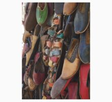 Colourful Hand Crafted  Leather Sandals One Piece - Short Sleeve
