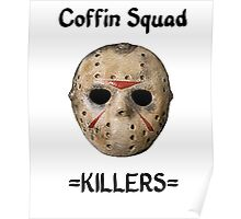 Coffin Squad Killers Hockey Mask Poster