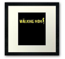 The Walking Mom Framed Print