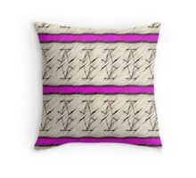 Lines of space ships Throw Pillow