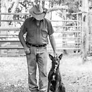 Farmer and his Dog by Danielle Espin