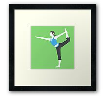 Smash Bros - Wii Fit Trainer Framed Print