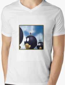 Bob-omb Battlefield Mens V-Neck T-Shirt