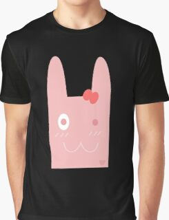 CUTE PINK BUNNY Graphic T-Shirt