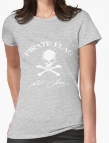 KENNY CHESNEY PIRATE FLAG BLACK Womens Fitted T-Shirt