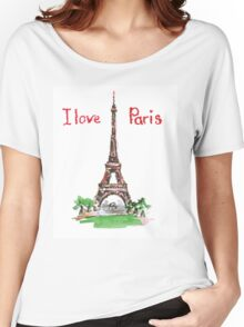 Famous place in France - the Eiffel Tower Women's Relaxed Fit T-Shirt