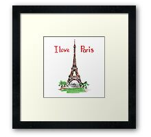 Famous place in France - the Eiffel Tower Framed Print