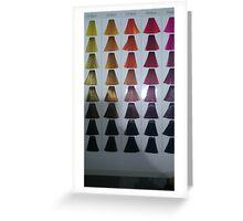 Coloured hair Greeting Card