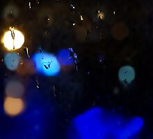 Night rain background by Bastetamon