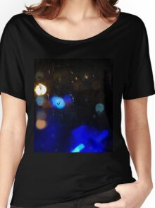 Night rain background Women's Relaxed Fit T-Shirt