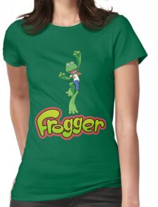Frogger logo Womens Fitted T-Shirt