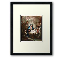 Isidoro Tapia (Valencia - Madrid ) ,The Adoration of the shepherds The Annunciation The Betrothal The birth of the Virgin Framed Print