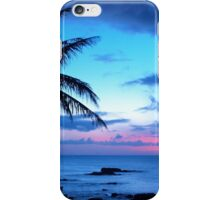 Tropical Island Pretty Pink Blue Sunset Landscape iPhone Case/Skin