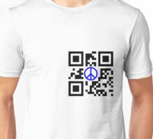Peace, Blue, QR Unisex T-Shirt