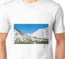 White Snowy Valley Unisex T-Shirt