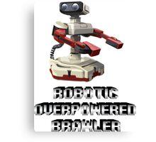 R.O.B. Robotic Overpowered Brawler SSB4 (Smash Bros Parody) Canvas Print